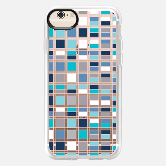 iPhone 6 Case - Blue grid 2