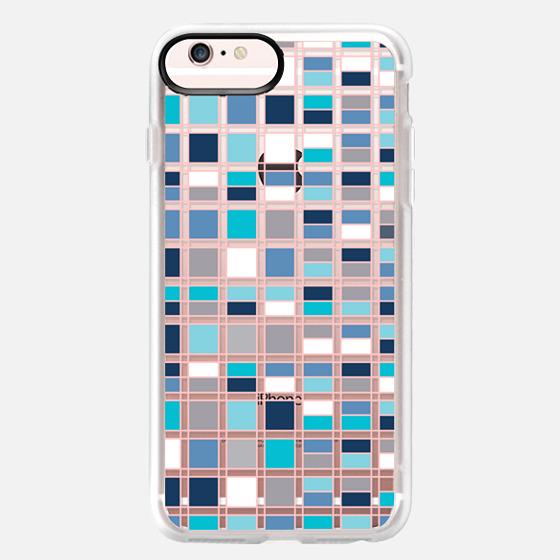 iPhone 6s Plus Hülle - Blue grid 2