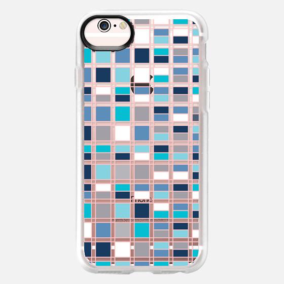 iPhone 6s Case - Blue grid 2
