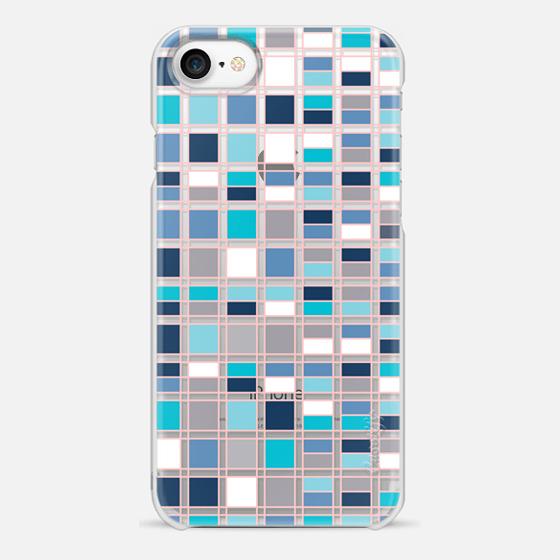 iPhone 7 Case - Blue grid 2