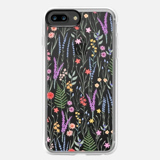 iPhone 7 Plus Case - the meadow / floral watercolor illustration pattern on clear background