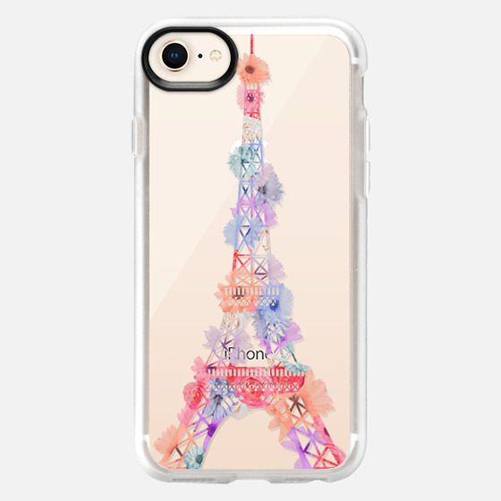 Flower Eiffel Tower / Paris - Snap Case