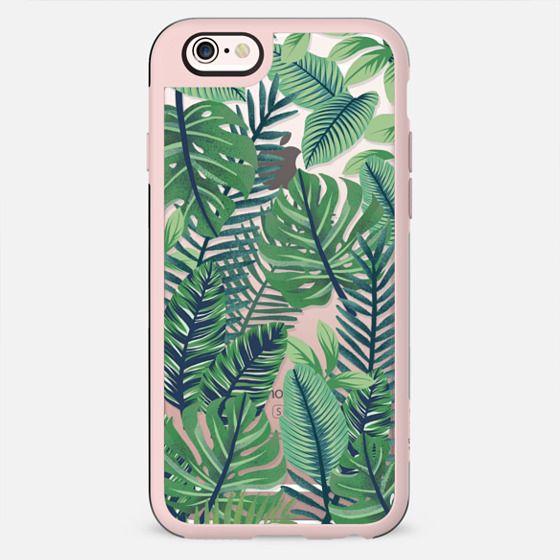 Green jungle floral on transparent background - New Standard Case