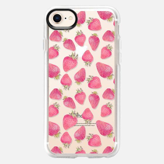 Pink strawberry pattern - Snap Case