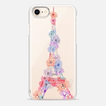 iPhone 8 Case Flower Eiffel Tower / Paris