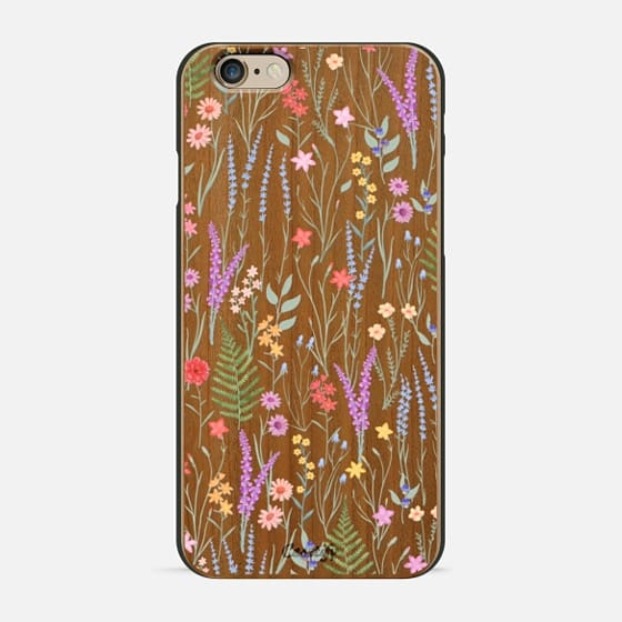 the meadow / floral watercolor illustration pattern on clear background