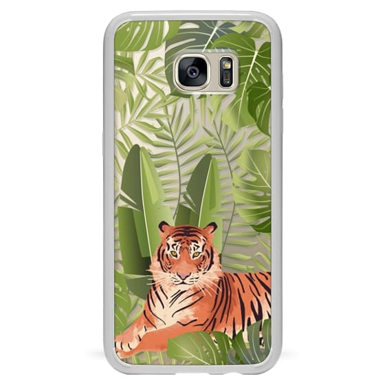 Samsung Galaxy S7 Edge Cases - Wild cat jungle / tiger floral