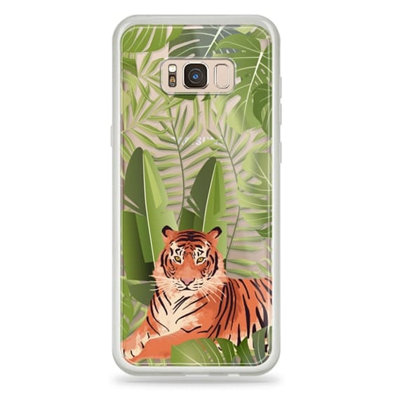 Samsung Galaxy S8 Plus Cases - Wild cat jungle / tiger floral