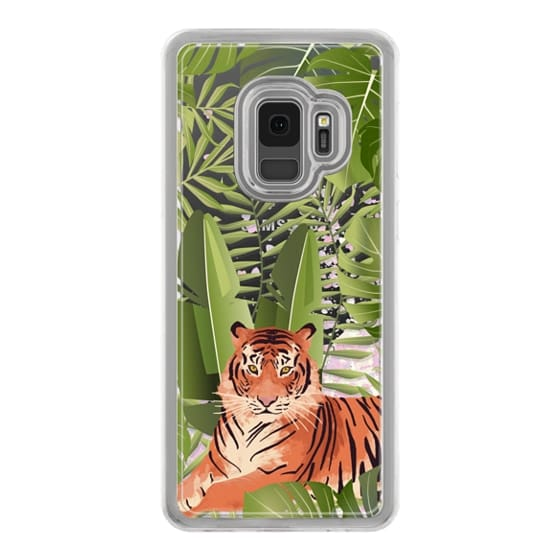 Samsung Galaxy S9 Cases - Wild cat jungle / tiger floral