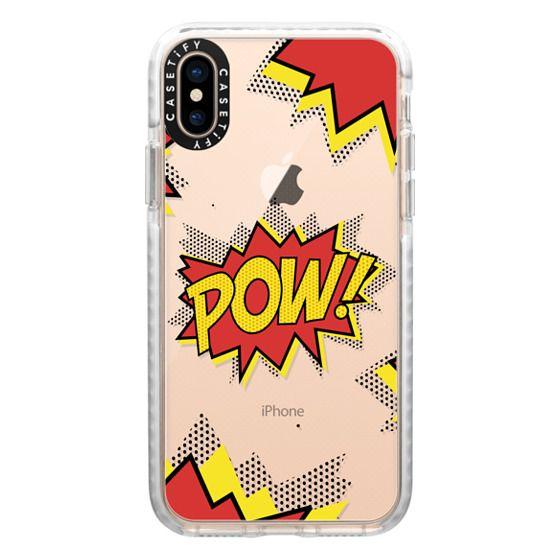 iPhone XS Cases - Pow! comic typography