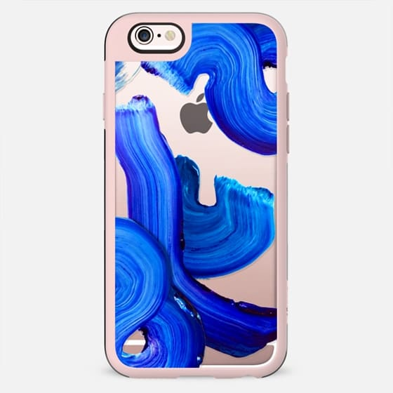Blue paint brush strokes on transparent background - New Standard Case