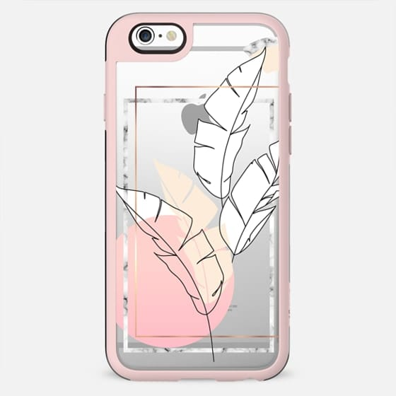Tropical minimal / marble and pink banan leaves - New Standard Case