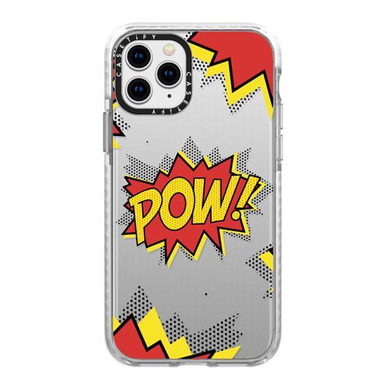 iPhone 11 Pro Cases - Pow! comic typography