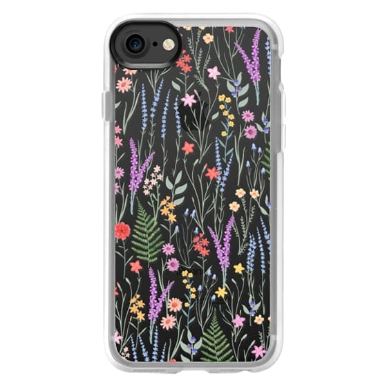 iPhone 7 Cases - the meadow / floral watercolor illustration pattern on clear background
