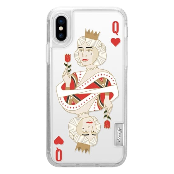 Classic Snap iPhone 6 Plus Case - queen of hearts / King and Queen  romanting matching cards case