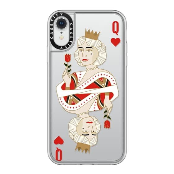 Grip iPhone XR Case - queen of hearts / King and Queen romanting matching  cards case