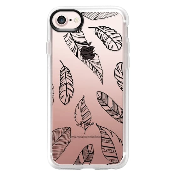 iPhone 7 Plus Cases - Feather Line Art