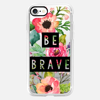 iPhone 7 ケース Be Brave Block Watercolor Floral