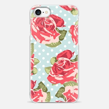 iPhone 7 Case Vintage Floral and Polka Dots