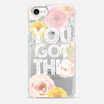 iPhone 7 Case You Got This Watercolor Floral 2
