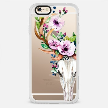 iPhone 6 Case Deer Head Skull and Floral