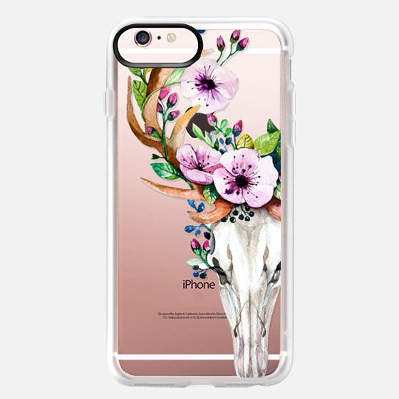 Deer Head Skull and Floral