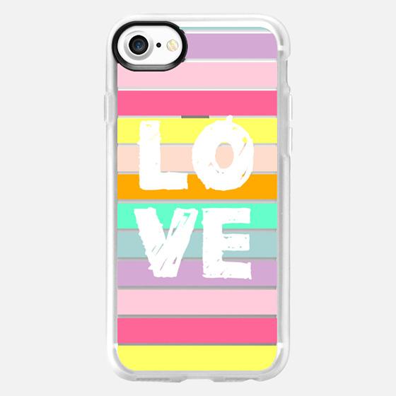 Love Fun Stripes - Classic Grip Case