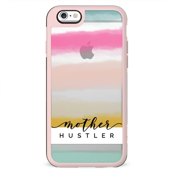 Mother Hustler | Watercolor Sunset Stripes