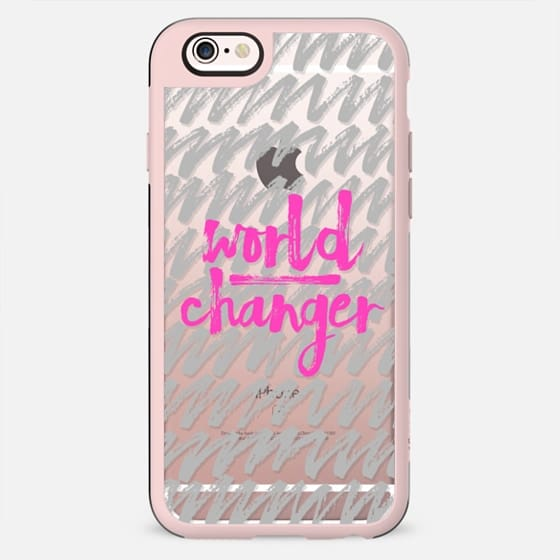 World Changer Gray and Hot Pink - New Standard Case