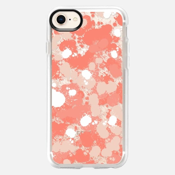 Coral and Splats - Snap Case