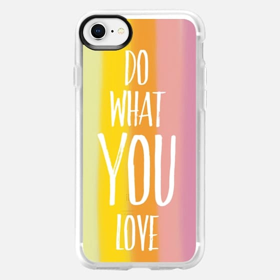 Do What U Love in Sunset - Snap Case