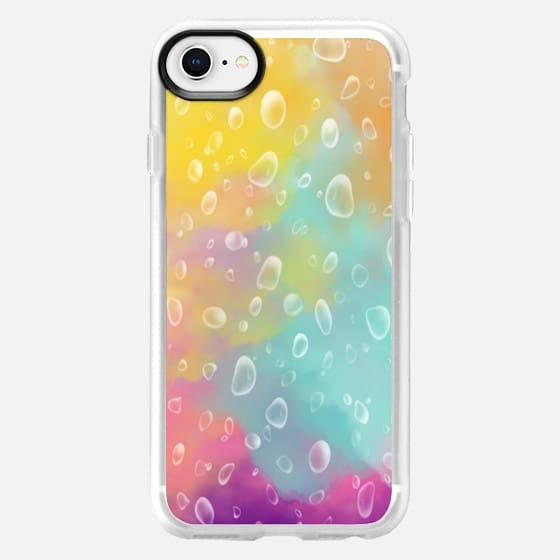 Raindrops on Watercolors - Snap Case