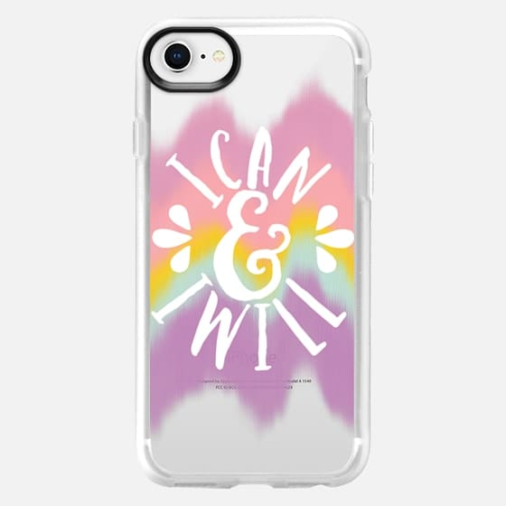 I Can and I will Color Waves - Snap Case