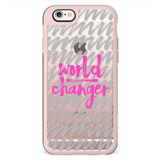 World Changer Gray and Hot Pink