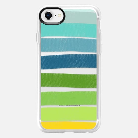 Layered Green Stripes - Snap Case