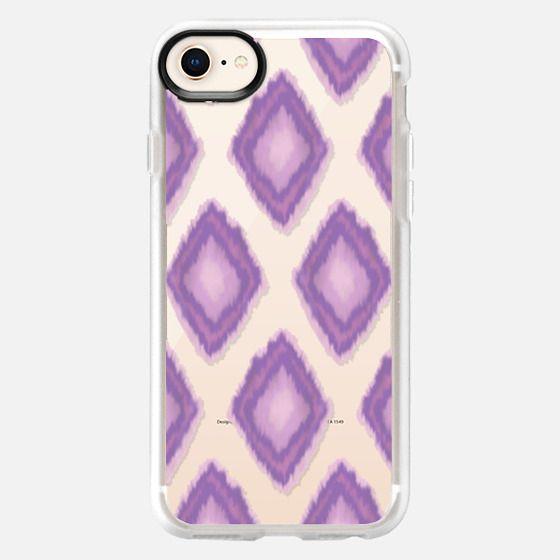 Large Purple Ikat - Snap Case
