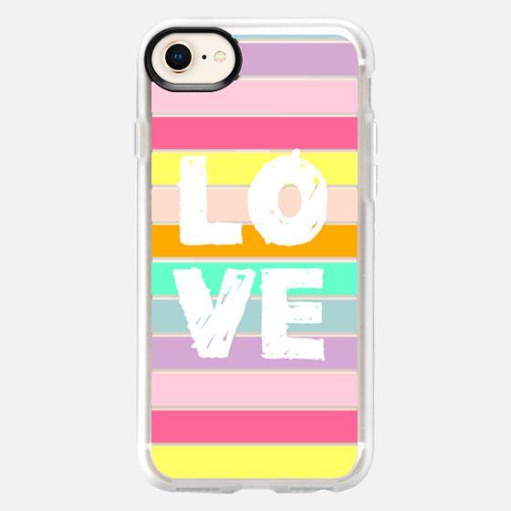 Love Fun Stripes - Snap Case