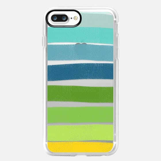 Layered Green Stripes - Classic Grip Case