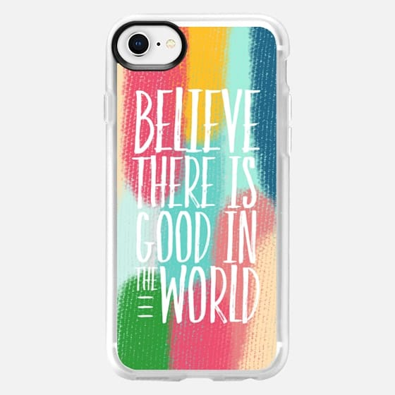 Believe in Painted Material - Snap Case
