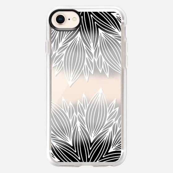 Ombre Gray Flower - Snap Case