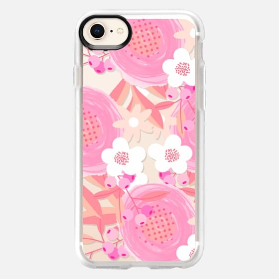 Pink Floral Breast Cancer Awareness  - Snap Case