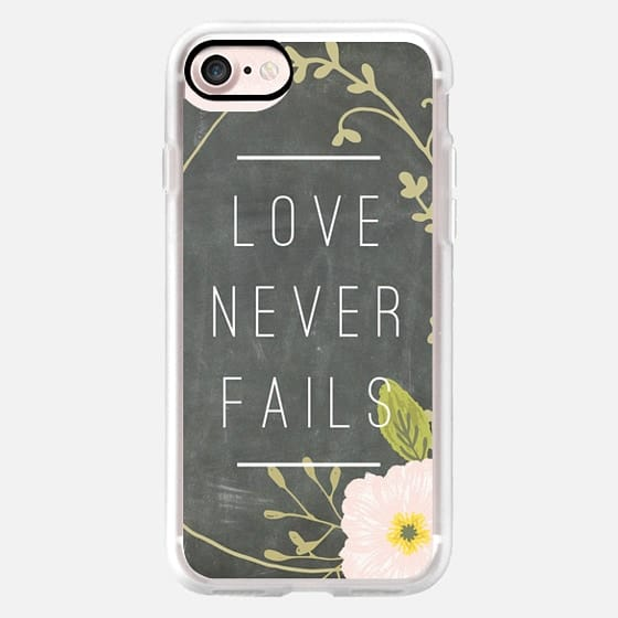 Love Never Fails - Chalkboard Floral -