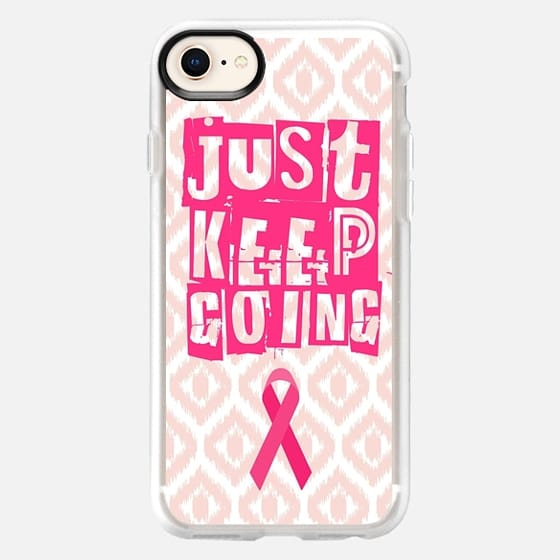 Just Keep Going Breast Cancer Awareness  - Snap Case