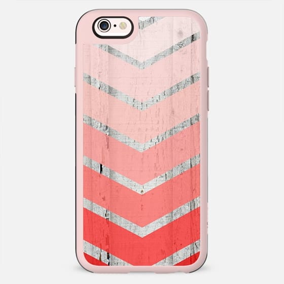 Old Wood Ombre Coral Chevron - New Standard Case