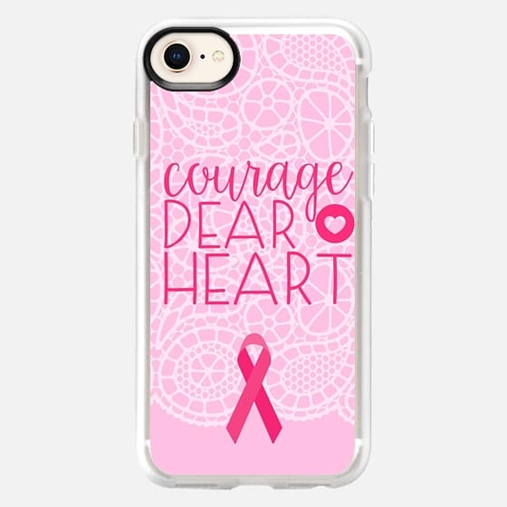 Courage Dear Heart Breast Cancer Awareness  - Snap Case