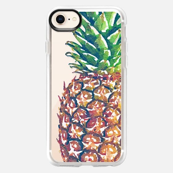 Extra Large Watercolor Pinapple - Snap Case