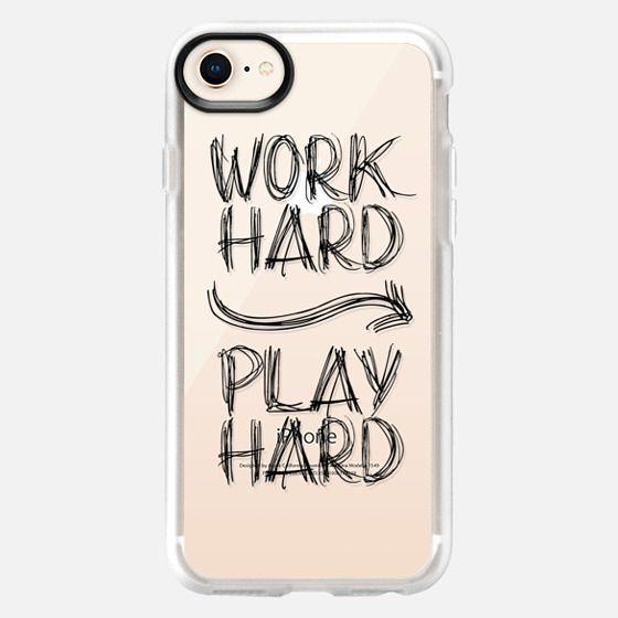 Work Hard Play Hard  Doodles - Snap Case