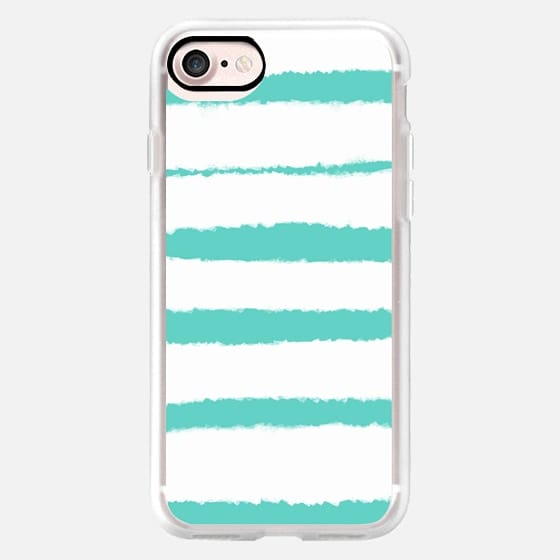 Teal Watercolor Stripes 1 -