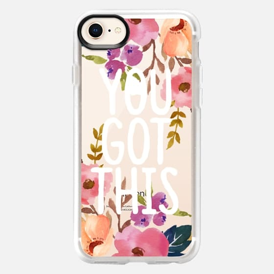 You Got This Watercolor Floral - Snap Case
