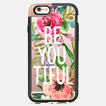 iPhone 6s Case Be YOU Tiful Watercolor Floral